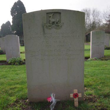 Enoch Powell in Warwick Cemetery