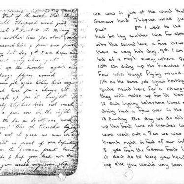 Diary of a WW1 Nuneaton Soldier, Part 4 of 4