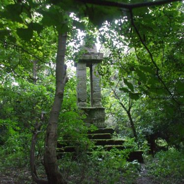 Gaveston Cross, hidden away in a wood. | Photo by Rob Woodgate.