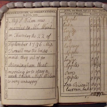 Diary of a Warwickshire Schoolgirl, 1777-1797