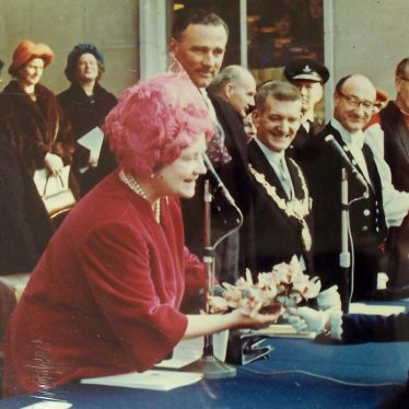 The Queen Mother Opens the Shire Hall Extension