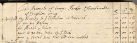 Note the payment to men taken by the Turks. | Warwickshire County Record Office reference DR690/3