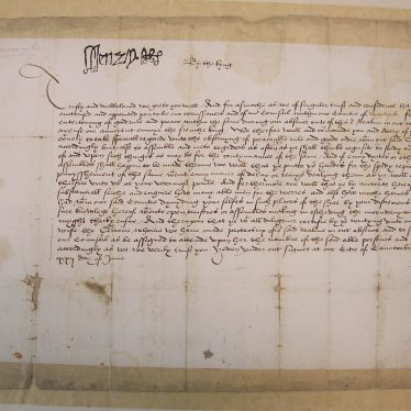 Signet Warrant of Henry VIII to the Commissioners of Warwickshire