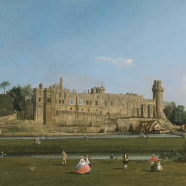 Canaletto, Warwick Castle and the County Record Office