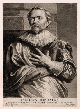 An engraving of Jacob Jordaens by Anthony van Dyck | Image courtesy of the British Museum