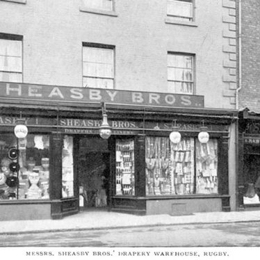 Rugby.  Sheasby Bros, drapery warehouse