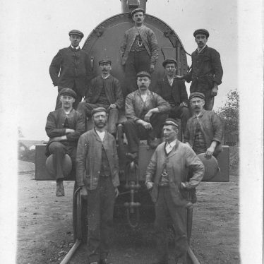 Rugby.  Railwaymen and engine