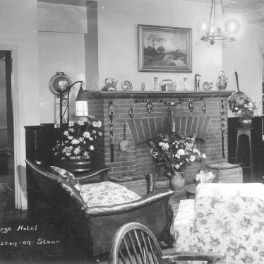Shipston on Stour.  Interior of George Hotel lounge