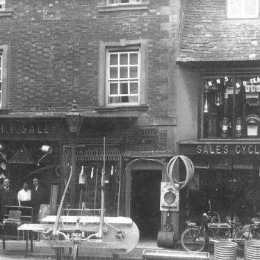 Shipston on Stour.  Sheep Street, H.F. Sale's shop