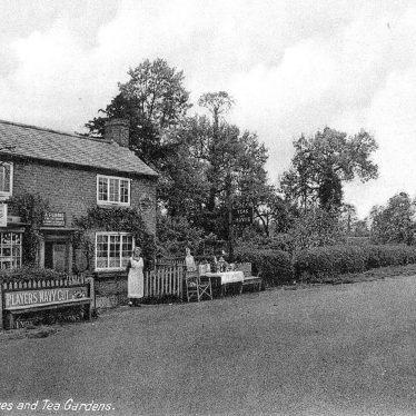 Mappleborough Green.  Stores and tea gardens