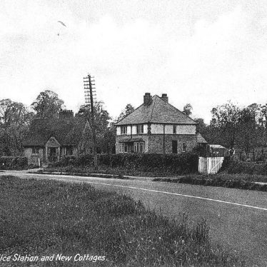 Mappleborough Green.  Police Station and New Cottages