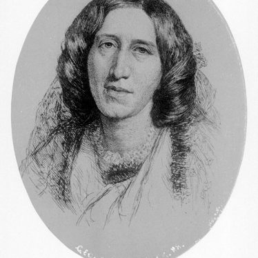 Arbury Hall.  Portrait of George Eliot