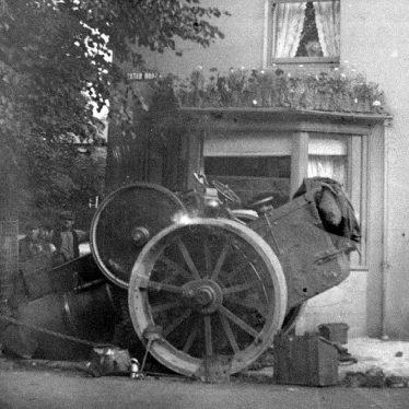 Nuneaton.  Collapsed steamroller