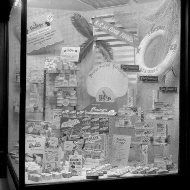 Leamington Spa.  Burgis & Colbourne's window display