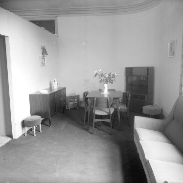 Leamington Spa.  Woodwards furniture display
