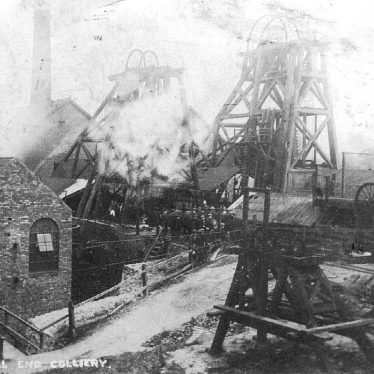 Hall End.   Colliery, fire