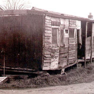 Leamington Spa.  Broad gauge railway carriage