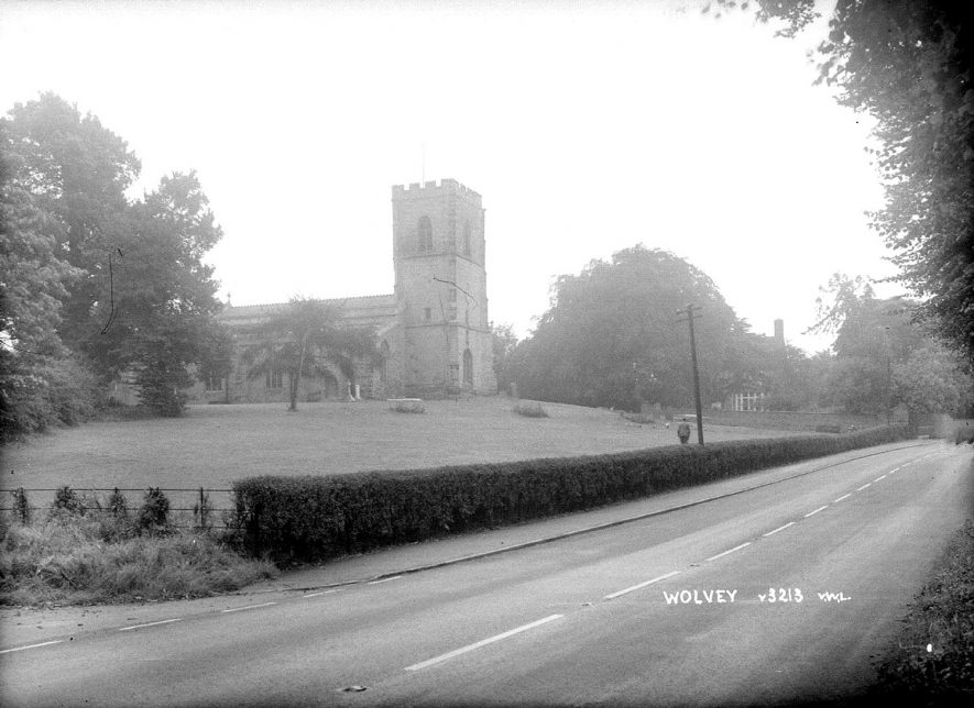 St John the Baptist church, Wolvey.  1960s |  IMAGE LOCATION: (Warwickshire County Record Office)