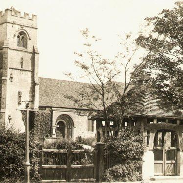 Beaudesert.  St Nicholas' Church and Lych Gate