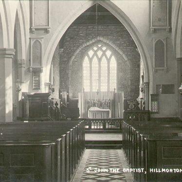 Hillmorton.  Church interior