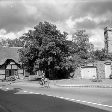 Dunchurch.  Cottage and church