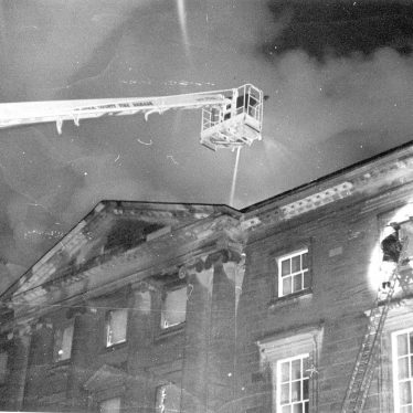 Great Packington.  Fire at the Hall