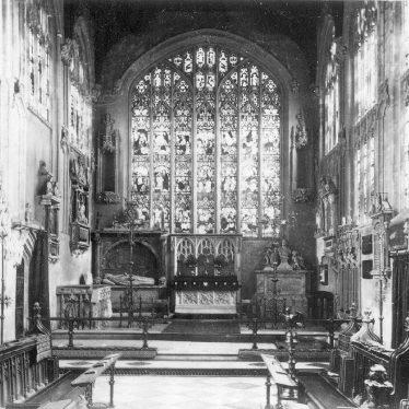 Parish Church Interior, looking east. Stratford upon Avon