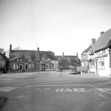 Wellesbourne.  Bridge Street, Stags Head Inn & Co-op Store