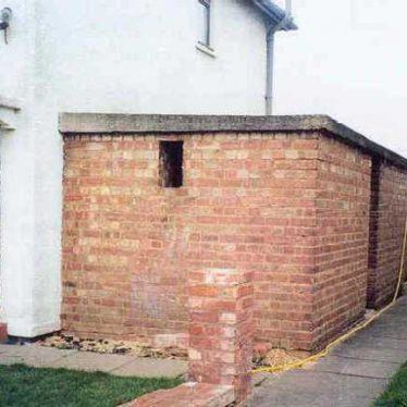 Brick built domestic surface shelter