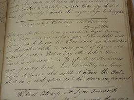 Cucumber Catchup by Mrs Bunny Bagginton.   Warwickshire County Record Office reference CR2025/2