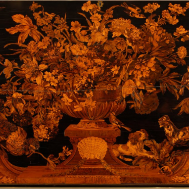 Panel by Andre-Charles Boulle, Warwick Cabinet. | Image courtesy of the Bowes Museum.