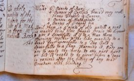 Recipe for the bite of a mad dog from Mary Wise's recipe book, C18th | Warwickshire County Record Office reference CR 341/301 page 140