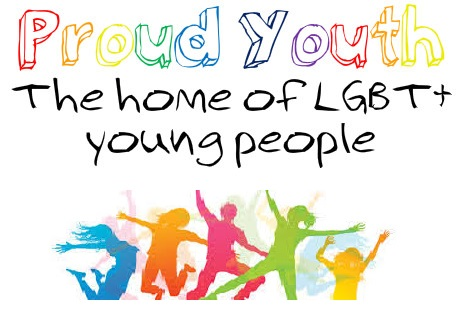 The record office has been working with Warwickshire's 'Proud Youth', a group for LGBT+ young people. This is their logo, which has the name of the group, and 'paint' images of five people in blue, orange, pink, green and yellow colours. | Image reproduced by kind permission of Warwickshire Pride