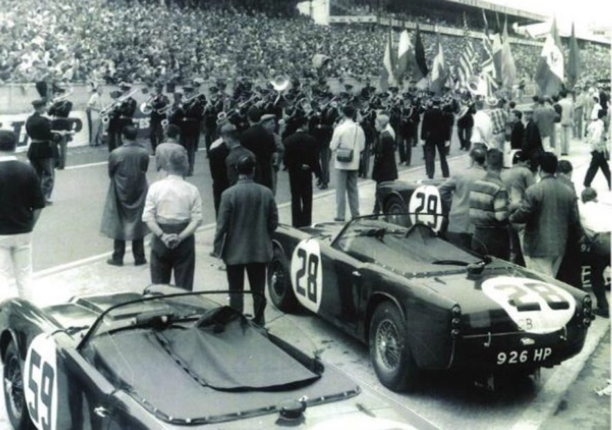 Pre-race ceremonies at Le Mans. | Image courtesy of Dave Gleed / The TR Register