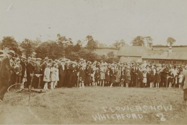 Whichford. Postcard of a Flower Show