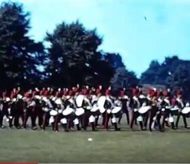 Cine Film of Junior Leaders Regiment Royal Artillery Marching Band, Nuneaton