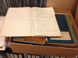 Photo department log books. | Photo by Gary Collins.