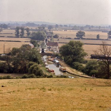 This was taken from the hill above the canal looking South. It was photographed in almost exactly the same place as PH352/128/29. There was very little difference between the three - the landscape was the same apart from a few trees. | Reference PH1239/6/15