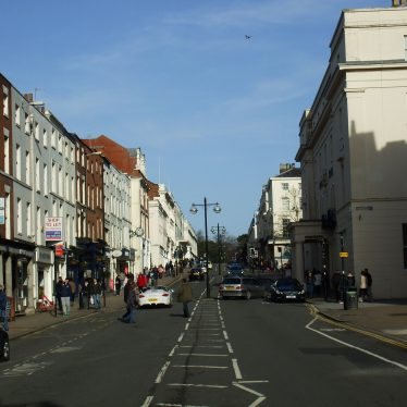 The Parade, Leamington Spa, looking north with The Regent Hotel on the right. 2014. | Photo by Benjamin Earl.
