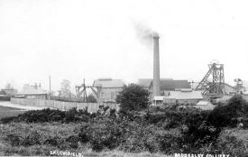 View of the pit head workings and buildings at Baddesley Colliery. 1900s. | Warwickshire County Record Office reference PH423/12