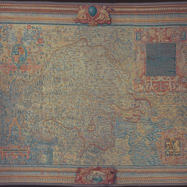 Warwickshire in 100 Objects: Sheldon Tapestry Map of Warwickshire