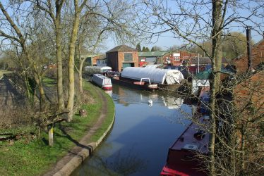 Then and Now: The Oxford Canal Near Brinklow