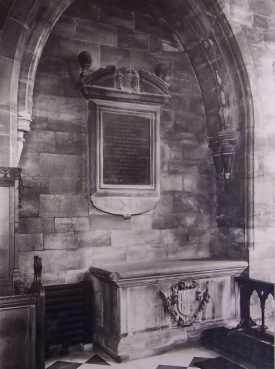 William Dugdale's Tomb, Shustoke,1953. |  Warwickshire County Record Office reference PH 123/2