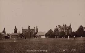 Postcard of Lower School, Rugby. Pre 1917. | Warwickshire County Record Office reference PH 352/152/134. Photograph by Greer Stationer, Rugby.
