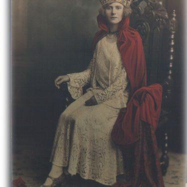 Ann Seal, Nuneatons first carnival queen, October 1930.