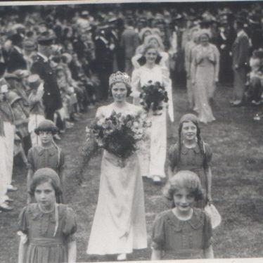 Photos of Nuneaton Carnival Queens, 1930s