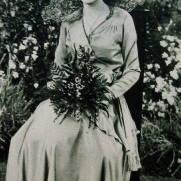 Believed to be 1931 carnival queen Phyllis Gibbs.   Nuneaton Memories