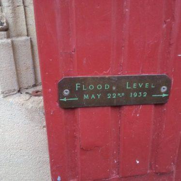 Nuneaton's only flood marker. | Nuneaton Memories