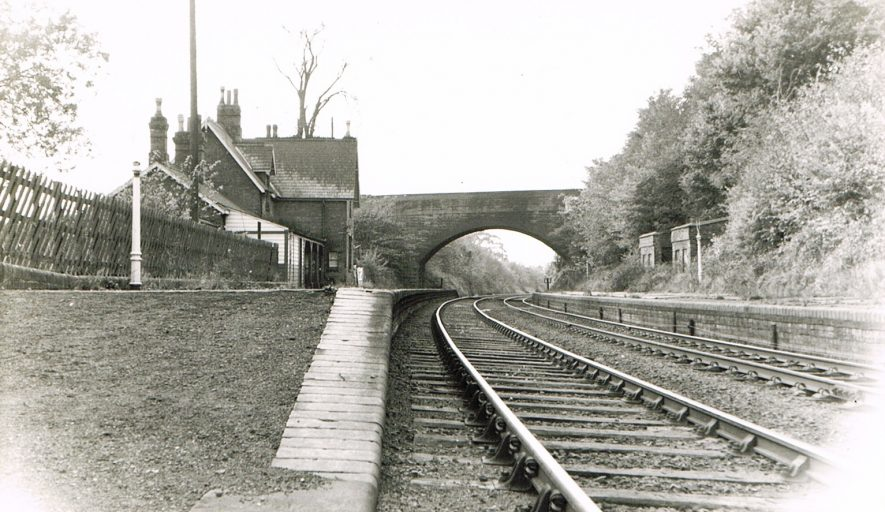 Arley and Fillongley Station, photographed on 18th October 1964. | Photograph by Geoff Edmands, from the Nuneaton Local History Group Collection.