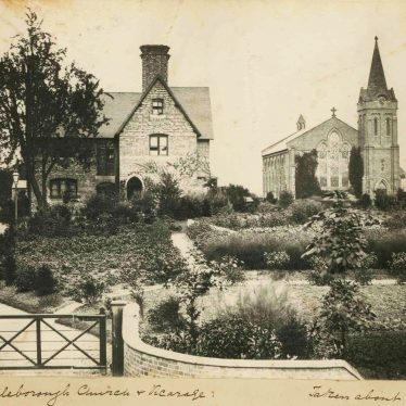 Photo of Attleborough Church and Vicarage 1864